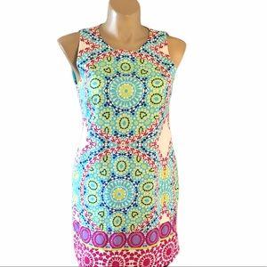 London Times Size 14 Sleeveless Cotton Dress